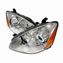 2002-2004 NISSAN ALTIMA CCFL HALO PROJECTOR HEADLIGHTS (PAIR) CHROME (Spec-D Tuning)