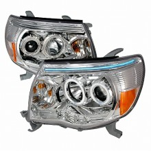 2005-2007 TOYOTA TACOMA CCFL HALO PROJECTOR HEADLIGHTS (PAIR) CHROME (Spec-D Tuning)