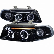 1996-1999 AUDI  A4  PROJECTOR HEADLIGHTS (PAIR) GLOSS BLACK HOUSING SMOKE LENS  (Spec-D Tuning)