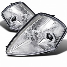 2000-2005 MITSUBISHI  ECLIPSE  HALO PROJECTOR HEADLIGHTS (PAIR) CHROME HOUSING  (Spec-D Tuning)