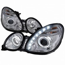 1998-2005 LEXUS  GS300 HALO PROJECTOR HEADLIGHTS (PAIR) CHROME - NOT COMPATIBLE WITH FACTORY XENON (Spec-D Tuning)