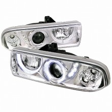1998-2004 CHEVY  S10 PROJECTOR HEADLIGHTS (PAIR) CHROME HOUSING  (Spec-D Tuning)