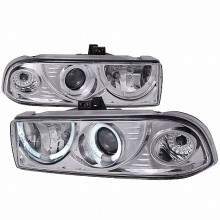 1998-2004 CHEVY S10 DUAL HALO PROJECTOR HEADLIGHTS (PAIR) CHROME  (Spec-D Tuning)