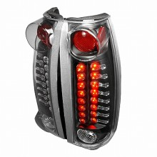 1999-2000 CADILLAC ESCALADE LED TAIL LIGHTS (PAIR) BLACK (Spec-D Tuning)