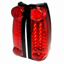 1999-2000 CADILLAC ESCALADE LED TAIL LIGHTS (PAIR) RED (Spec-D Tuning)