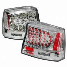 2005-2008 DODGE CHARGER LED TAIL LIGHTS (PAIR) CHROME (Spec-D Tuning)