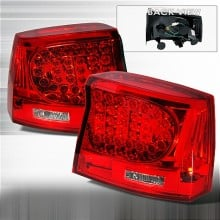 2005-2008 DODGE CHARGER LED TAIL LIGHTS (PAIR) RED (Spec-D Tuning)
