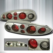 1993-2002 CHEVY CAMARO ALTEZZA TAIL LIGHTS (PAIR) SMOKE   (Spec-D Tuning)