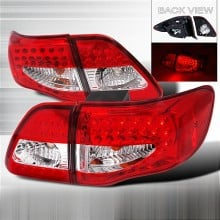 2009-2010 TOYOTA COROLLA LED TAIL LIGHTS (PAIR) RED (Spec-D Tuning)