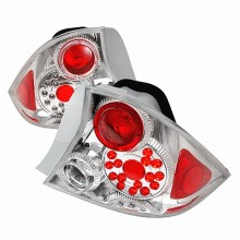 2001-2003 HONDA CIVIC LED TAIL LIGHTS (PAIR) CHROME 2DR (Spec-D Tuning)