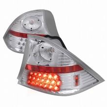 2001-2003 HONDA CIVIC LED TAIL LIGHTS (PAIR) CHROME 2 DOOR (Spec-D Tuning)