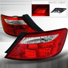 2006-2008 HONDA CIVIC LED TAIL LIGHTS (PAIR) RED CHROME 2DR (Spec-D Tuning)