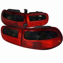 1992-1995 HONDA CIVIC  TAIL LIGHTS (PAIR) RED CLEAR 3DR MODEL (Spec-D Tuning)
