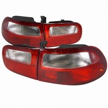 1992-1995 HONDA  CIVIC TAIL LIGHTS (PAIR) RED CLEAR LENS 3DR MODEL (Spec-D Tuning)