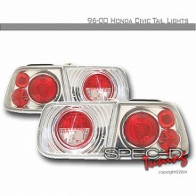 1996-2000 HONDA CIVIC ALTEZZA TAIL LIGHTS (PAIR) CHROME 2DR (Spec-D Tuning)
