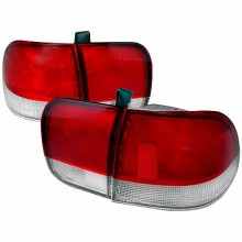 1996-1998 HONDA CIVIC TAIL LIGHTS (PAIR) RED CLEAR 4DR (Spec-D Tuning)