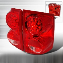 2005-2007 DODGE DAKOTA LED TAIL LIGHTS (PAIR) RED (Spec-D Tuning)