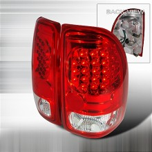 1997-2004 DODGE DAKOTA LED TAIL LIGHTS (PAIR) RED (Spec-D Tuning)