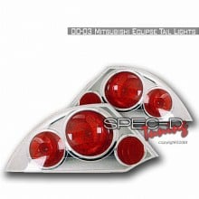 2000-2003 MITSUBISHI ECLIPSE ALTEZZA TAIL LIGHTS (PAIR) CHROME (Spec-D Tuning)
