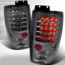 1997-2002 FORD EXPEDITION LED TAIL LIGHTS (PAIR) SMOKE (Spec-D Tuning)