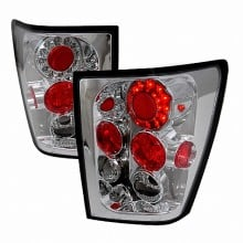 2005-2007 JEEP GRAND CHEROKEE LED TAIL LIGHTS (PAIR) CHROME (Spec-D Tuning)