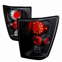 2005-2006 JEEP GRAND CHEROKEE LED TAIL LIGHTS (PAIR) BLACK (Spec-D Tuning)