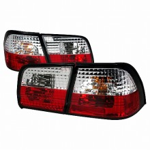 1995-1996 NISSAN MAXIMA ALTEZZA TAIL LIGHTS (PAIR) RED CLEAR (Spec-D Tuning)