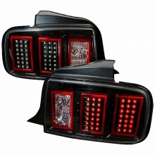 2005-2009 FORD MUSTANG LED TAIL LIGHTS (PAIR) BLACK (Spec-D Tuning)