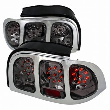 1994-1998 FORD MUSTANG LED TAIL LIGHTS (PAIR) SMOKE (Spec-D Tuning)