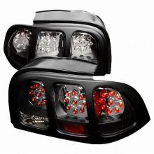 1994-1998 FORD MUSTANG LED TAIL LIGHTS (PAIR) BLACK (Spec-D Tuning)