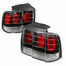 1999-2004 FORD MUSTANG ALTEZZA TAIL LIGHTS (PAIR) BLACK (Spec-D Tuning)