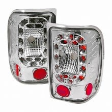 2001-2004 FORD RANGER LED TAIL LIGHTS (PAIR) RED (Spec-D Tuning)