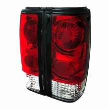 1982-1993 CHEVY  S10 TAIL LIGHTS (PAIR) - RED CLEAR (Spec-D Tuning)
