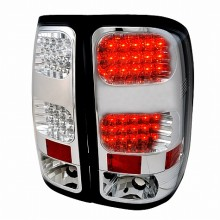 2007-2012 GMC SIERRA LED TAIL LIGHTS (PAIR) CHROME (Spec-D Tuning)