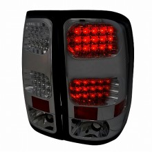 2007-2012 GMC SIERRA LED TAIL LIGHTS (PAIR) SMOKE (Spec-D Tuning)