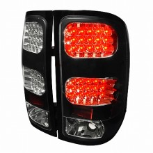 2007-2012 GMC SIERRA LED TAIL LIGHTS (PAIR) BLACK (Spec-D Tuning)
