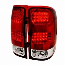 2007-2012 GMC SIERRA LED TAIL LIGHTS (PAIR) RED (Spec-D Tuning)