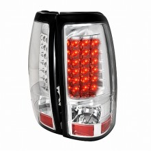 2003-2006 CHEVY SILVERADO LED TAIL LIGHTS (PAIR) CHROME (Spec-D Tuning)