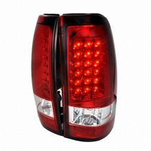 2003-2006 CHEVY SILVERADO LED TAIL LIGHTS (PAIR) RED (Spec-D Tuning)