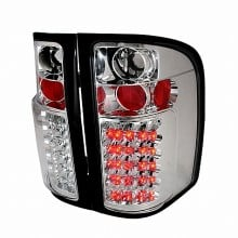 2007-2011 CHEVY SILVERADO LED TAIL LIGHTS (PAIR) CHROME (Spec-D Tuning)