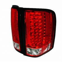 2007-2011 CHEVY SILVERADO LED TAIL LIGHTS (PAIR) RED (Spec-D Tuning)
