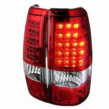 1999-2002 CHEVY SILVERADO LED TAIL LIGHTS (PAIR) RED (Spec-D Tuning)