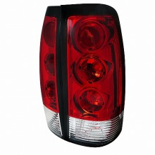 1999-2002 CHEVY SILVERADO EURO TAIL LIGHTS (PAIR) RED AND CLEAR  (Spec-D Tuning)