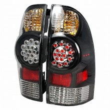 2005-2010 TOYOTA TACOMA LED TAIL LIGHTS (PAIR) BLACK (Spec-D Tuning)