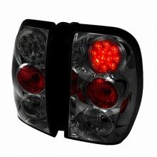 2002-2009 CHEVY TRAILBLAZER LED TAIL LIGHTS (PAIR) SMOKE (Spec-D Tuning)