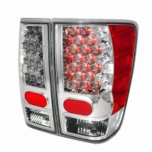 2004-2012 NISSAN TITAN LED TAIL LIGHTS (PAIR) CHROME (Spec-D Tuning)