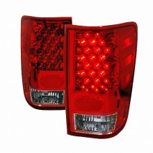 2004-2012 NISSAN TITAN LED TAIL LIGHTS (PAIR) RED (Spec-D Tuning)