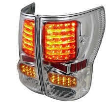 2007-2012 TOYOTA  TUNDRA  LED TAIL LIGHTS (PAIR) CHROME HOUSING  (Spec-D Tuning)