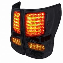 2007-2012 TOYOTA  TUNDRA  LED TAIL LIGHTS (PAIR) SMOKED LENS  (Spec-D Tuning)