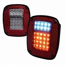 1987-2006 JEEP  WRANGLER  LED TAIL LIGHTS (PAIR) RED  (Spec-D Tuning)